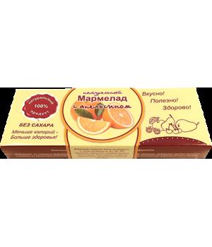 Мармелад натуральный, апельсин 140 гр