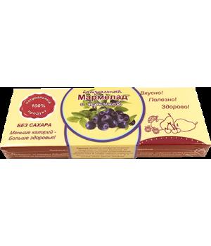 Мармелад натуральный, черника 140 гр