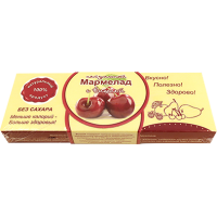 Мармелад натуральный, вишня 140 гр