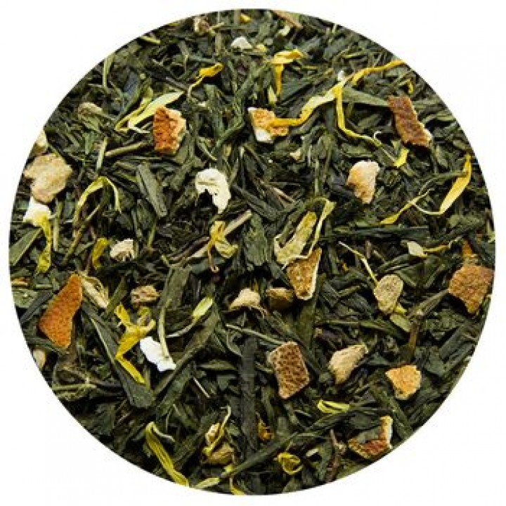 """Чай зеленый """"С имбирем и медом"""", 100 гр"""