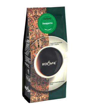 Кофе в зернах Амаретто 500 гр, в зернах