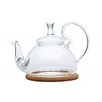 """Чайник стеклянный """"Георгин средний"""" 600 мл"""