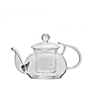 """Чайник стеклянный """"Розмарин"""" с держателем для крышки, 600 мл"""