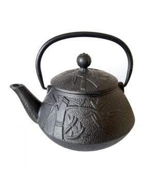 """Чайник чугунный """"Пандовый лес"""", объем 800 мл."""