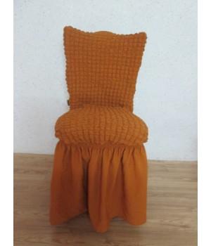 Чехлы на стулья 6 шт. Горчичный цвет