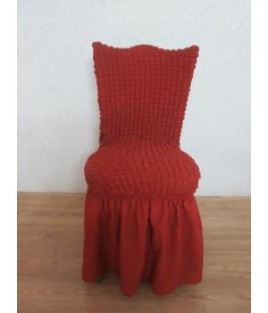 Чехлы на стулья 6 шт. Кирпичный цвет