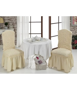 Чехлы на стулья 2 шт. Натурал