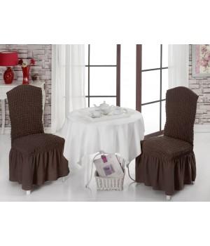 Чехлы на стулья 2 шт. Коричневый цвет