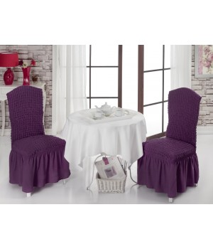 Чехлы на стулья 2 шт. Фиолетовый цвет