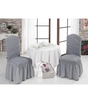 Чехлы на стулья 2 шт. Серый цвет