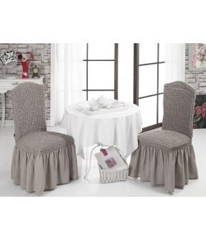 Чехлы на стулья 2 шт. Кофейный цвет