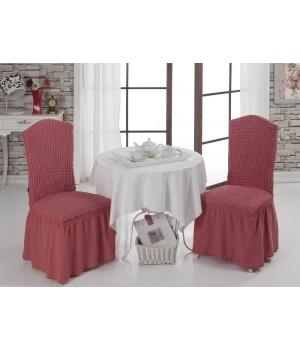 Чехлы на стулья 2 шт. Темно - розовый цвет