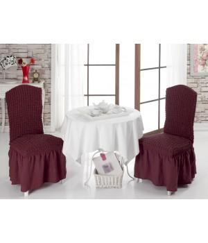 Чехлы на стулья 2 шт. Бордовый цвет