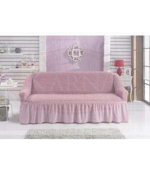 """Чехол для дивана """"BULSAN"""" двухместный Светло - розовый цвет"""