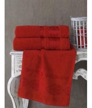 """Полотенце махровое """"KARNA"""" REBEKA (70x140) см 1/1 (Красный)"""