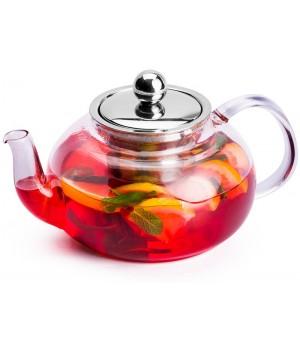 """Чайник """"Рубиновый Закат """" с металлической колбой, 600 мл"""