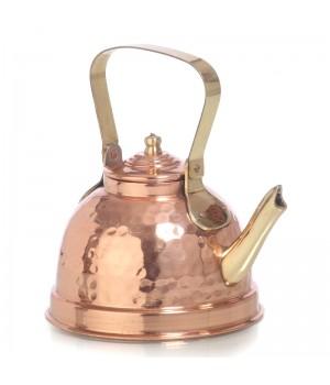 Медный заварочный чайник луженый изнутри объёмом -600 мл  (Индия)