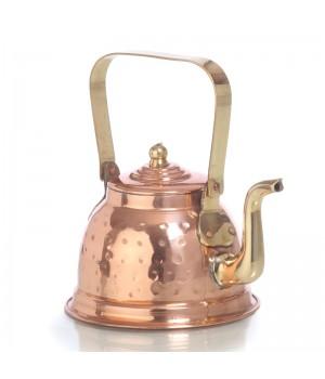 Медный заварочный чайник объёмом 250 мл, луженый изнутри (Индия)