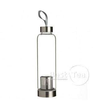 Бутылка походная заварочная с металлическим ситом 550 мл