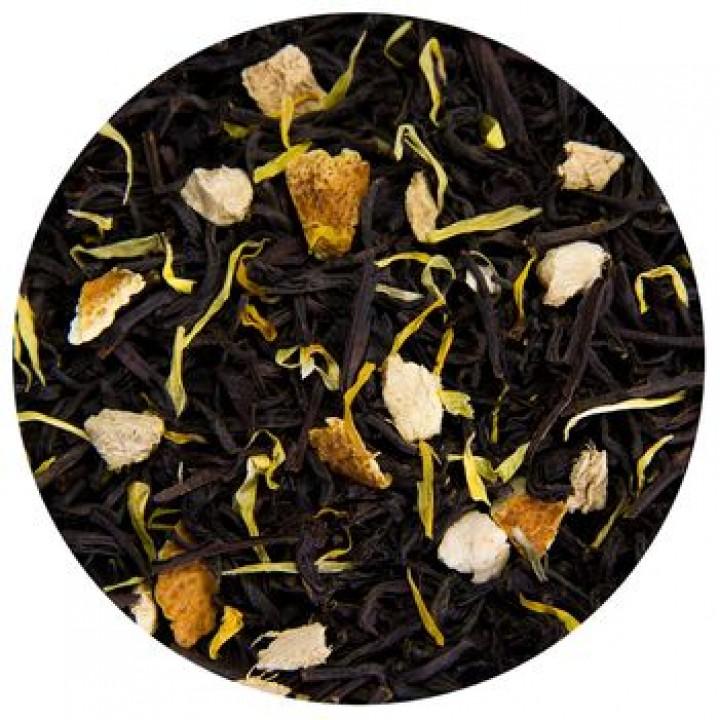 """Ароматизированный черный чай """"Апельсин с имбирем"""", 100 гр"""