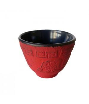 """Чугунная чашка """" Мэйхуа"""" эмалированная внутри, 120 мл."""