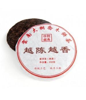 "Шу пуэр, блин, 200 г ""Чай с высокой горы И Ву"" (фаб. Маньлэй, Сишуанбаньна, 2016 г.)"