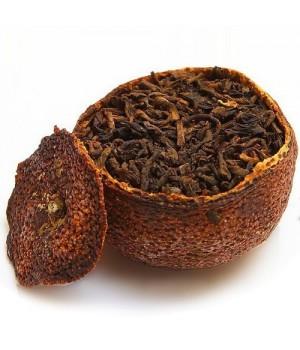 Рассыпной Шу пуэр в мандарине, 1 шт (30-50 гр)