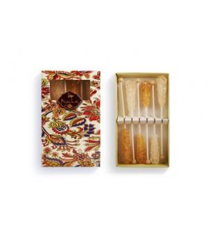 Сахар леденцовый в подарочной упаковке 6 шт. (белый, шафран, 72 г)