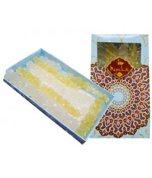 Сахар леденцовый развесной в подарочной упаковке (белый, шафран, 170 г)
