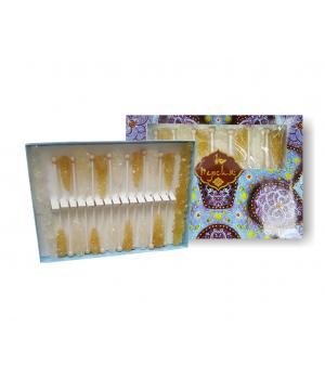 Сахар леденцовый в подарочной упаковке (белый, шафран, 248 г)