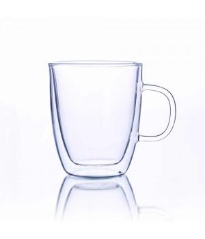 Необжигающая чашка с двойными стенками c ручкой 300 мл