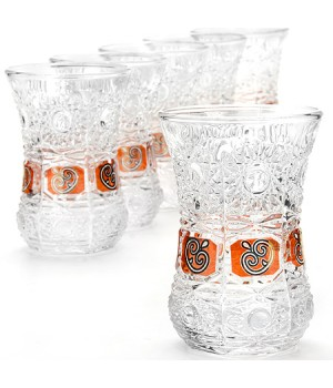 """Турецкий стакан """"Армуд"""" 6 шт (130 мл) в подарочной упаковке (LR-24676)"""