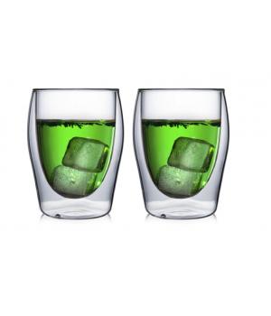 """Необжигающая чашка с двойными стенками """"Лилия-1"""" 180 мл, 2 шт"""