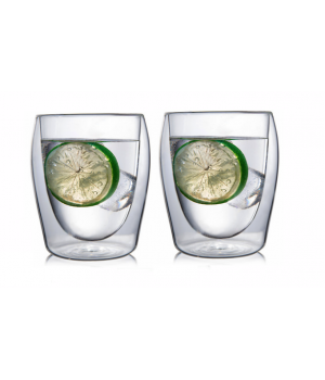 """Необжигающая чашка с двойными стенками """"Лилия-2"""" 230 мл, 2 шт"""