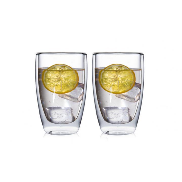 """Необжигающая чашка с двойными стенками """"Лилия-8"""" 390 мл, 2 шт"""
