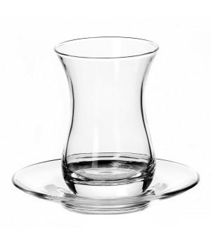 """Турецкий стакан """"Армуд"""" 6 шт с блюдцами (Pasabahce) 160 мл"""