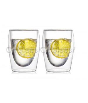 """Необжигающая чашка с двойными стенками """"Лилия-5"""" 300 мл, 2 шт"""