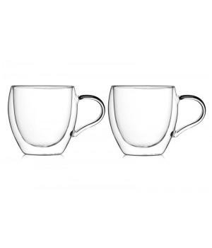 """Необжигающая чашка с двойными стенками """"Сакура-3"""" 270 мл, 2 шт"""