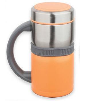 Термокружка Kamille 500мл из нержавеющей стали (оранжевая)