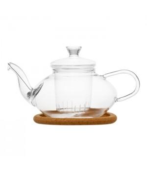 """Чайник из жаропрочного стекла """"Нежность"""" с колбой,  500 мл,"""